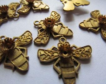 Beautiful Brass Haskell Bee Settings Dangels Drops Beads