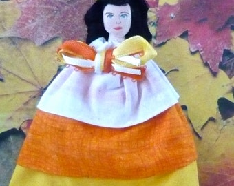 Candy Corn Doll Miniature Fall Autumn Art Character
