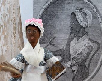 Phillis Wheatley African American Poet Historical Miniature Doll Colonial Art
