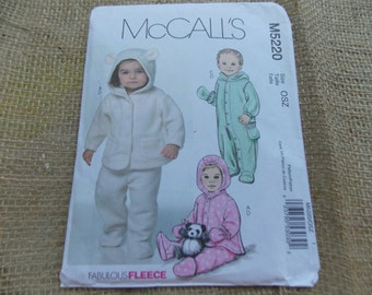 SALE   Sew Infants Snowsuit Jacket Pants Mittens McCalls 5220  Newborn to Large Baby Gifts
