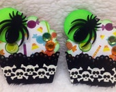 Halloween Paper Cupcake Embellishments-Set of 2