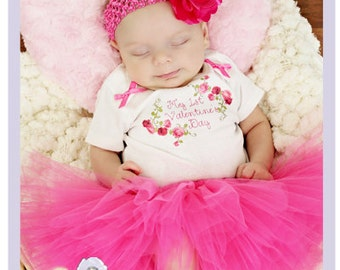 my first valentines day baby girl valentines outfit newborn valentines day outfit 0 3 - Infant Valentines Day Outfits