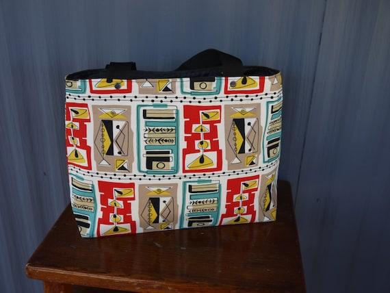 Retro Martini Glasses Carry Bag / Tote Bag / Market Bag / Book Bag / Carry All -