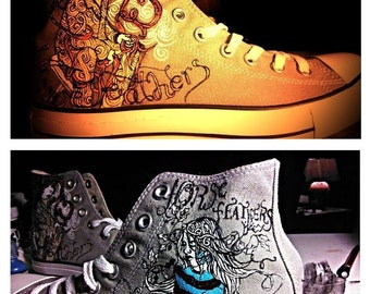 Your Favorite Bands Logo - Custom Hand Painted Shoes