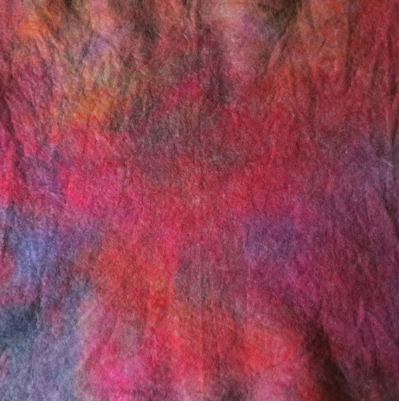 Magenta, Lilac, Summer, Felt, Hand dyed, Unique, Serendipity by Sassa Lynne, Mixed Media, Unrepeatable