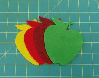 Felt apple shapes 8 pieces