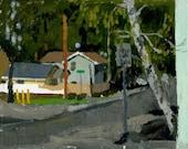 The Street Where You Live: Original Oil Painting Urban Plein Air Landscape