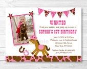 Cute Pink Cowgirl Birthda...