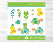 Cute Turtle Frog Clipart ...