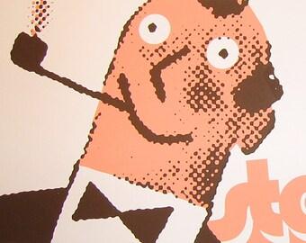 Stereolab screenprinted poster [gigposter rock show pearl street northampton 2004 retro vintage]
