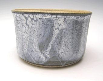 Contemporary ceramic planter Succulent planter Modern Planter Cactus planter pottery planter Herb black white 5 3/4 x 3 1/2  Free shipping05