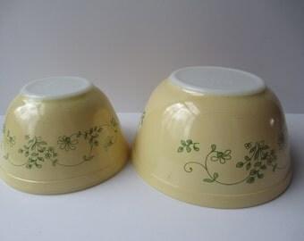 Vintage Pyrex Shenandoah Mixing Bowl Pair