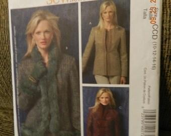 McCalls Jacket Pattern M4927 Uncut Misses/Misses Petite Size 10-16 Uncut