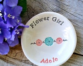 Flower Girl Gift - Personalized Ring Dish for Flower Girl - Pretty Jewelry and Trinket Dish -  Gift Dish for Someone Special