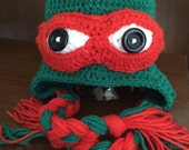Teenage Mutant Turtle Hat - All Colors - All Sizes - Baby Child Teen Adult