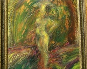Abstract Expressionist Figure oil painting