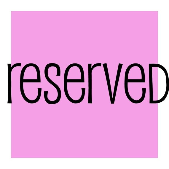 reserved for judyhirt