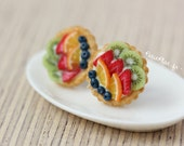 Fruit Tartlet/Pie Earrings - Miniature Food Jewelry - Fruit Tart Collection