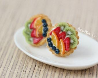 Fruit Tartlet/Pie Earrings - Miniature Food Jewelry - Fruit Tart Collection