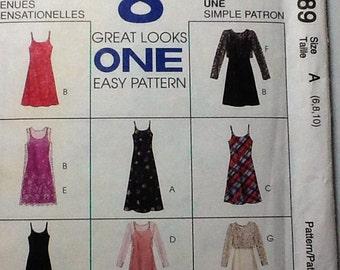 Dress and Jacket Pattern, uncut, Size 8-10