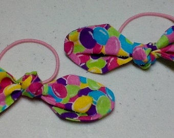 Ponytail Bow on Elastic  Multicolored