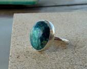 Arizona Shattuckite silver Ring, Artisan cocktail Ring, Gemstone Ring, statement ring, Sterling silver Ring
