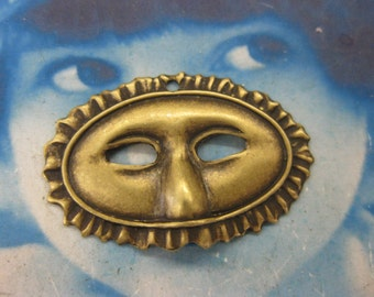 Brass Ox Plated Masquerade Mask Charms  632BOX x2