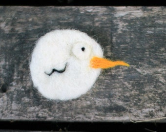 Chick brooch felt bird