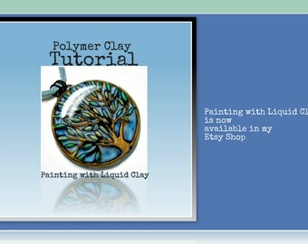 Polymer clay Tutorial- Jewelry Tutorial- How to Paint with Liquid Polymer Clay Jewelry Making