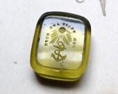 Our Trust and Hope - Antique Glass Block Rebus Wax Seal - Antique Tassie Intaglio Gem Seal