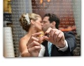 Personalized Wedding Picture Words Wall Art for Couple Gallery wrapped canvas art 24x24