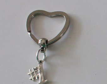 Sterling NUMBER 1  Key Ring, Key Chain -  Award, Achievement