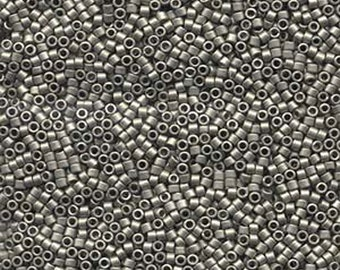 11/0 Miyuki Delica Matte Metallic Silver Nickel Finish Glass Seed Beads 7.2 grams DB321