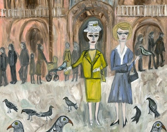 Holiday in Italy.  Limited edition print by Vivienne Strauss.
