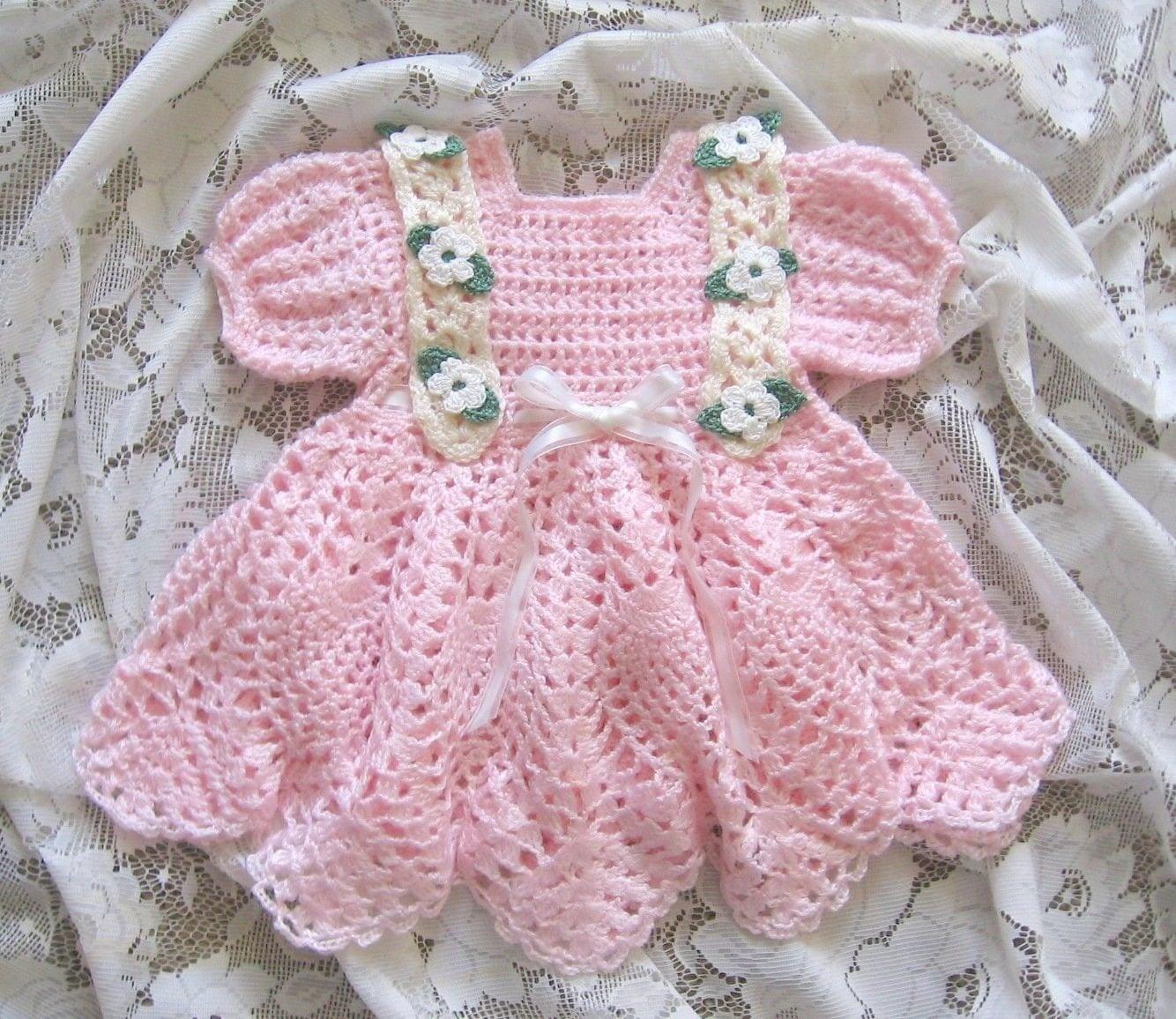 Crochet Pattern For Baby Girl Baby Girl Dress Baileigh
