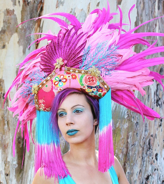 how to make a vegas showgirl headpiece