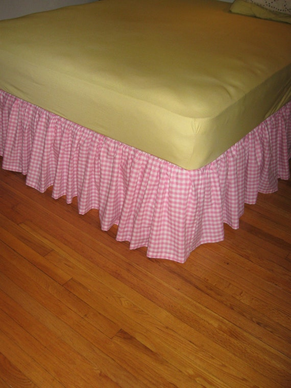 Ruffled Gingham Bed Skirt Choose Your Size