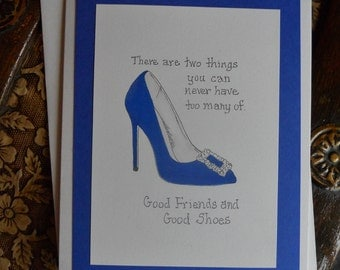 Good Friends and Good Shoes Thank You Card