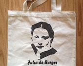 Tote bag, Julia de Burgos, Puerto Rican Poet, Feminist Poet, Boricua Poet