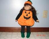 American Girl Doll Halloween Pumpkin Costume
