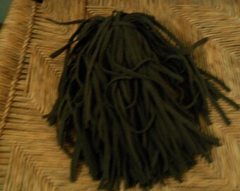 107 Hand Dyed Wool Rug Hooking Strips Olive Green