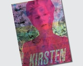 Repurposed Original Screenprint on Wallpaper 6 x 8 Prints CMYK Marie Antoinette Sofia Coppola Kirsten Dunst - SET of 3