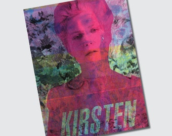 Repurposed Original Screenprint on Wallpaper 6 x 8 Prints CMYK Marie Antoinette Sofia Coppola Kirsten Dunst - SET of 3