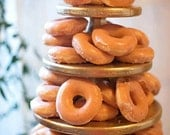 Donut, Cupcake, or Mini Dessert Stand 5 tiered, Silver or Gold Elegant Wedding, Birthday Party, Anniversary or Occasion
