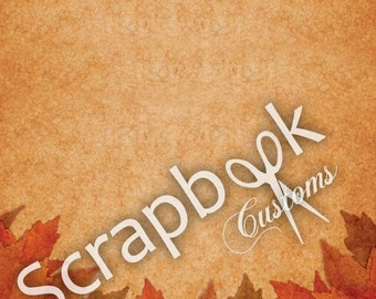 Autumn Scrapbooking Paper Scrapbook Customs 12 x 12