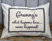 Mother's Day, Father's Day, mom gift, Grandparent personalized, grandparent gift idea, grandparent pillow, grandmother, gift for her