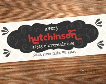 Return Address Label Stickers - Hutchinson - Choose your own colors