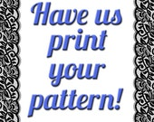 Custom Printing for Mrs. Depew Vintage Draft At Home Patterns with Everything Included!
