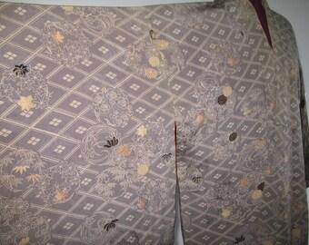 Grey Patterned Silky Soft Kimono