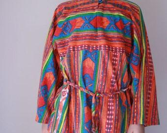 Vintage girls top aztec hippie tunic size  7/8